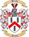 Binette Family Crest from France