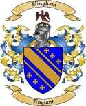 Bingham Family Crest from England