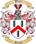Binin Family Crest from France