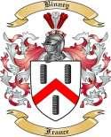 Binney Family Crest from France