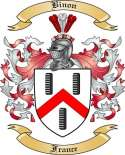 Binon Family Crest from France