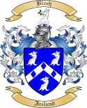 Birch Family Crest from Ireland