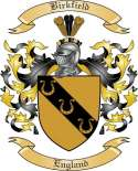 Birkfield Family Crest from England