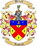Birrell Family Crest from England