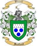 Birrell Family Crest from Scotland