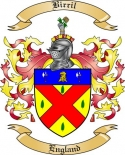 Birrill Family Crest from England