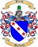 Biseth Family Crest from Scotland