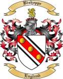 Bishoppe Family Crest from England