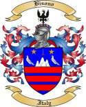 Bisono Family Crest from Italy