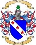 Bizet Family Crest from Scotland