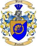 Bjork Family Crest from Finland