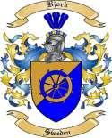 Bjork Family Crest from Sweden
