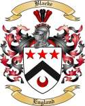 Blacke Family Crest from England2