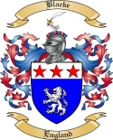 Blacke Family Crest from England