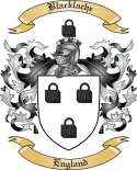 Blacklache Family Crest from England