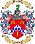 Blacklege Family Crest from England2