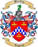 Blackley Family Crest from England