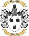Blacklidge Family Crest from England