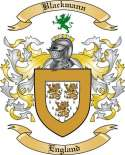 Blackmann Family Crest from England