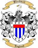 Blackwell Family Crest from England