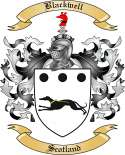 Blackwell Family Crest from Scotland