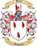Blad Family Crest from England