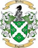 Blades Family Crest from England