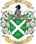Bladt Family Crest from England2