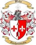 Blaha Family Crest from Czechoslovakia