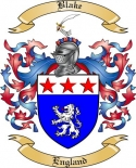 Blake Family Crest from England
