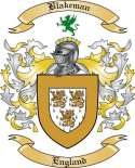Blakeman Family Crest from England