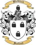 Blalklock Family Crest from Scotland