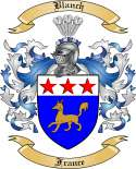 Blanch Family Crest from France