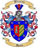 Blancom Family Crest from Spain