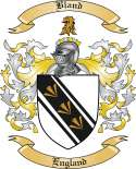 Bland Family Crest from England2