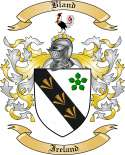 Bland Family Crest from Ireland