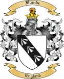 Blande Family Crest from England