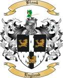 Blank Family Crest from England