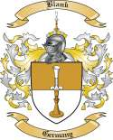 Blank Family Crest from Germany