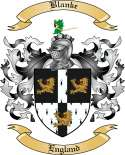 Blanke Family Crest from England