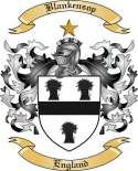 Blankensop Family Crest from England