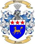 Blanque Family Crest from France