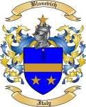 Blasevich Family Crest from Italy