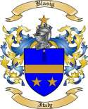 Blasig Family Crest from Italy