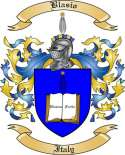 Blasio Family Crest from Italy
