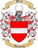 Blatt Family Crest from Germany