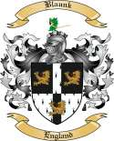 Blaunk Family Crest from England