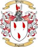 Blayde Family Crest from England