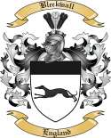 Bleckwall Family Crest from England