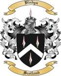 Bledyn Family Crest from Scotland